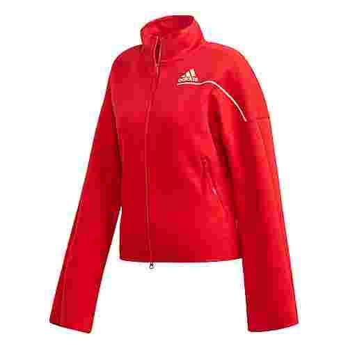 adidas adidas Z.N.E. Trainingsjacke Sweatjacke Damen Rot