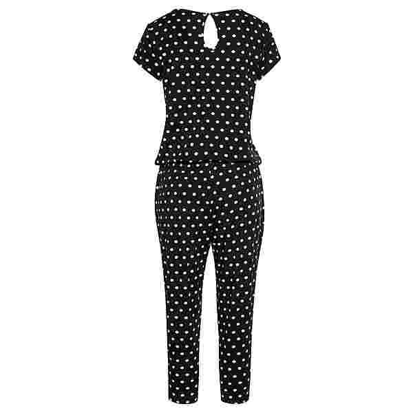 Lascana Overall Damen schwarz-weiß-gepunktet