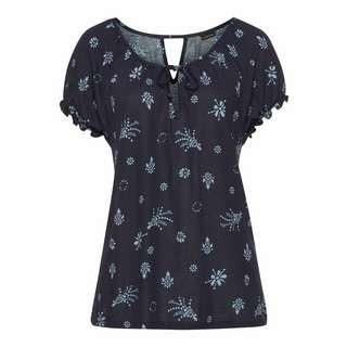 S.OLIVER V-Shirt Damen blau-bedruckt