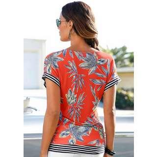 Lascana T-Shirt Damen rot-bedruckt