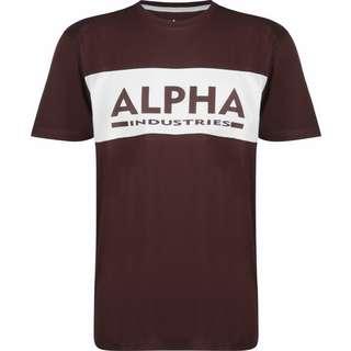 Alpha Industries Alpha Inlay T-Shirt Herren weinrot