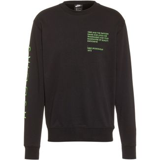 Nike NSW Swoosh Sweatshirt Herren black-green nebula-ember glow