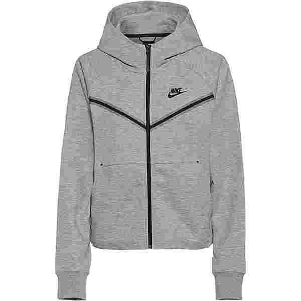 Nike Tech Fleece Sweatjacke Damen dk grey heather-black