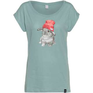 iriedaily It Hasi T-Shirt Damen beryl