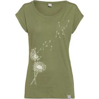 iriedaily Pusteblume T-Shirt Damen light olive