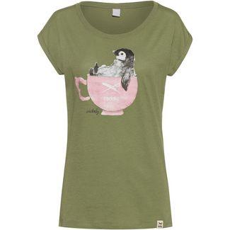 iriedaily Pingulax T-Shirt Damen light olive