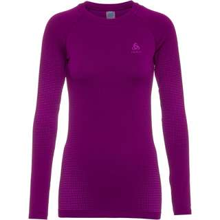 Odlo PERFORMANCE WARM ECO Funktionsshirt Damen charisma purple cactus flower