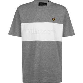 Lyle & Scott Colourblock Embroidered Logo T-Shirt Herren grau/meliert
