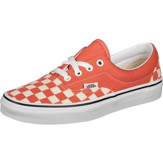 Vans Era Sneaker orange/weiß/kariert
