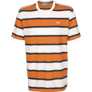FILA Makram T-Shirt Herren orange/weiß/gestreift