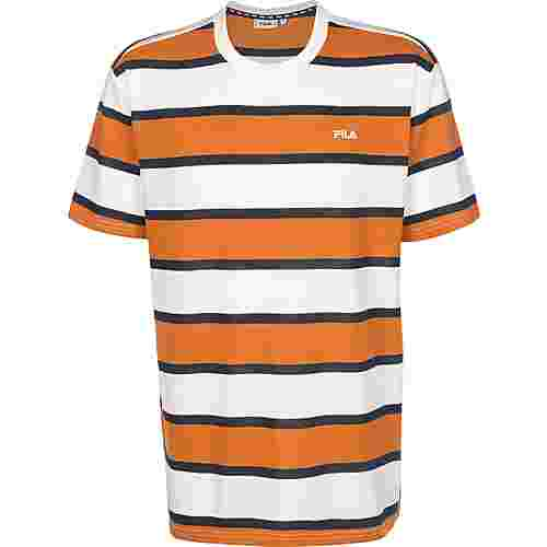 FILA Makram T-Shirt Herren orange/weiß/gestreift