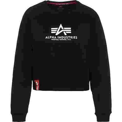Alpha Industries Basic Boxy Sweatshirt Damen schwarz
