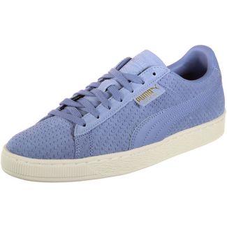 PUMA Suede Classic Perforation Sneaker blau/weiß