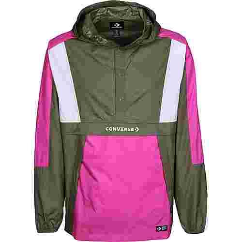 CONVERSE Packable Hooded Windbreaker Herren oliv/pink