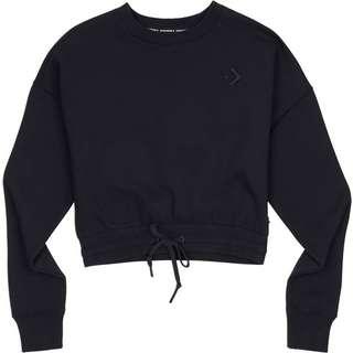 CONVERSE Cropped Crew W Sweatshirt Damen schwarz