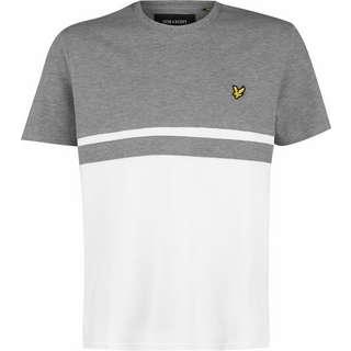 Lyle & Scott Panel Stripe T-Shirt Herren grau/meliert/weiß