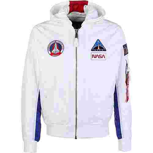 Alpha Industries MA-1 TT Hood NASA Windbreaker Herren weiß