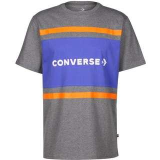 CONVERSE Colorblock T-Shirt Herren grau/meliert