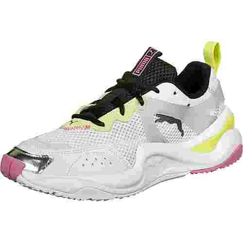 PUMA Rise Contrast W Sneaker Damen weiß