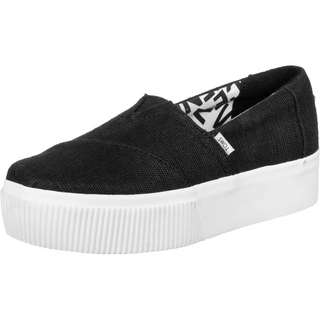 Toms Alpargata Boardwalk Plateau Slipper Damen schwarz