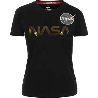 Alpha Industries NASA PM T-Shirt Damen schwarz