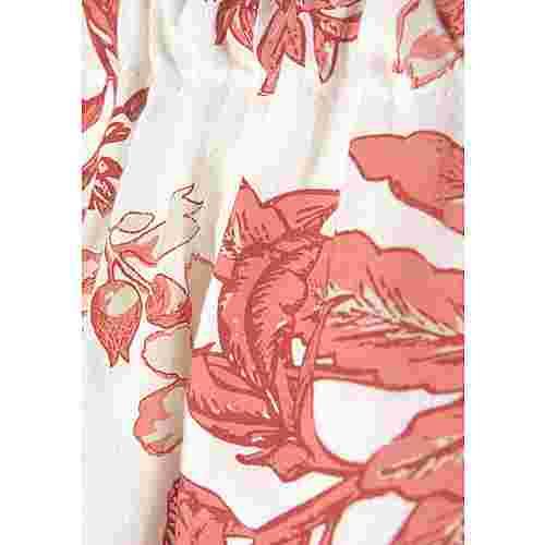 Lascana Kurzarmkleid Damen rot-weiß-bedruckt