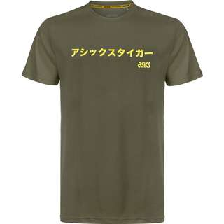 ASICS Sportswear T-Shirt Herren oliv