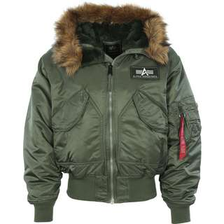 Alpha Industries 45 P Hooded Winterjacke Herren grün