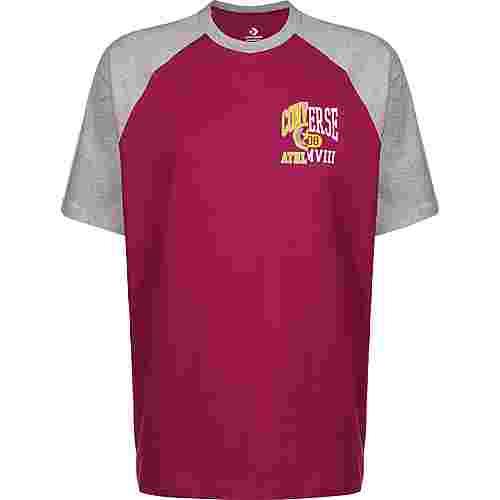 CONVERSE Icon Remix Raglan T-Shirt Herren pink