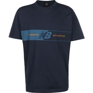 NEW BALANCE MT01510 T-Shirt Herren blau