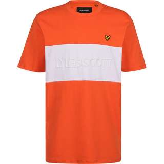 Lyle & Scott Colourblock Embroidered Logo T-Shirt Herren orange