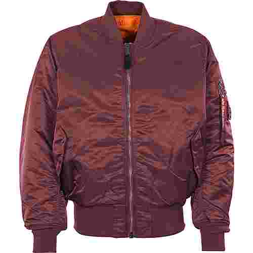 Alpha Industries MA-1 Winterjacke Herren weinrot