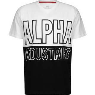 Alpha Industries Block T-Shirt Herren weiß