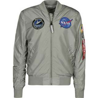 Alpha Industries MA-1 TT NASA Reversible II Windbreaker Herren grau