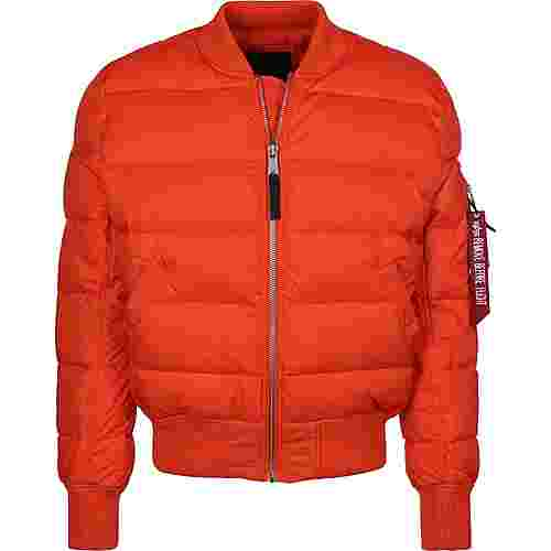 Alpha Industries MA-1 Puffer Daunenjacke Herren orange