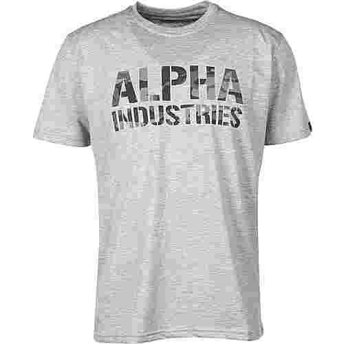 Alpha Industries Camo Print T-Shirt Herren grau/meliert