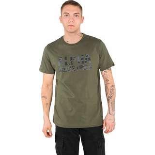 Alpha Industries Camo Print T-Shirt Herren oliv