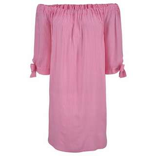 Lascana Minikleid Damen pink-weiß