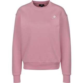 CONVERSE Embroidered Star Chevron Crew Sweatshirt Damen pink
