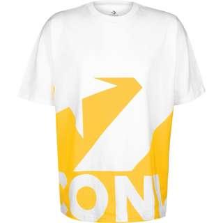 CONVERSE Star Chevron Icon Remix T-Shirt Herren weiß/gelb