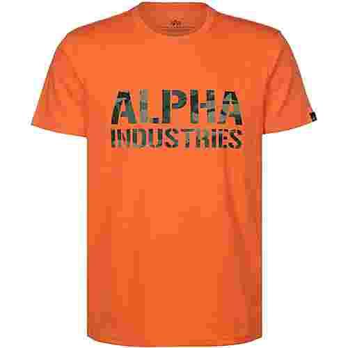 Alpha Industries Camo Print T-Shirt Herren orange