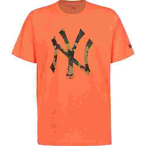 New Era MLB Infill Team Logo New York Yankees T-Shirt Herren neon/orange