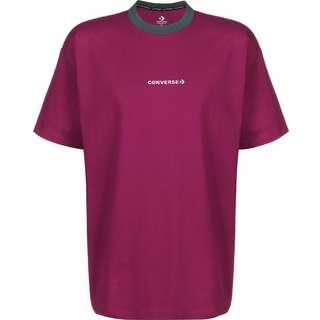 CONVERSE Centerfront Wordmark Ringer T-Shirt Herren pink