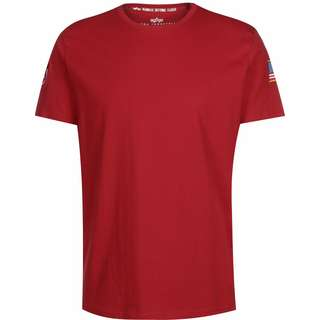 Alpha Industries NASA T-Shirt Herren rot