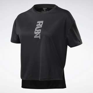 Reebok Run Essentials Run Fast T-Shirt Funktionsshirt Damen Schwarz
