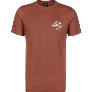 iriedaily Bye Bye Cat T-Shirt Herren braun