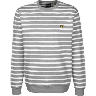 Lyle & Scott Breton Stripe Sweatshirt Herren weiß/grau/gestreift