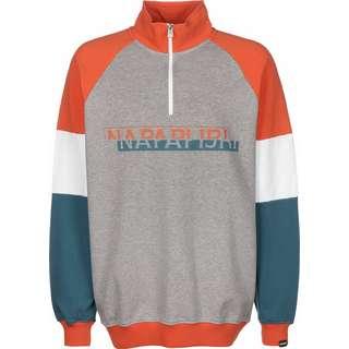 Napapijri Bire HZ Sweatshirt Herren grau/meliert/orange