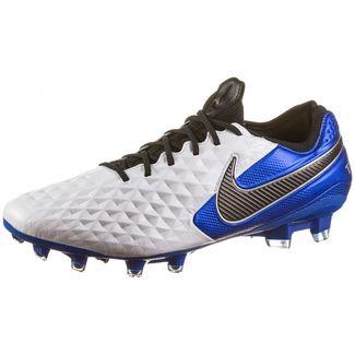 Nike Tiempo Legend 8 Elite FG Fußballschuhe Herren white-black-hyper royal-metallic silver