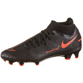 Nike PHANTOM GT ACADEMY DF FG/MG Fußballschuhe black-chile red-dk smoke grey